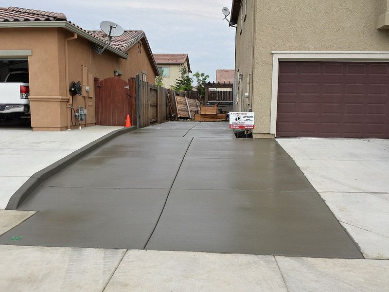 New Side Yard And Driveway Extension Concrete Side Yard Universal Design Yard