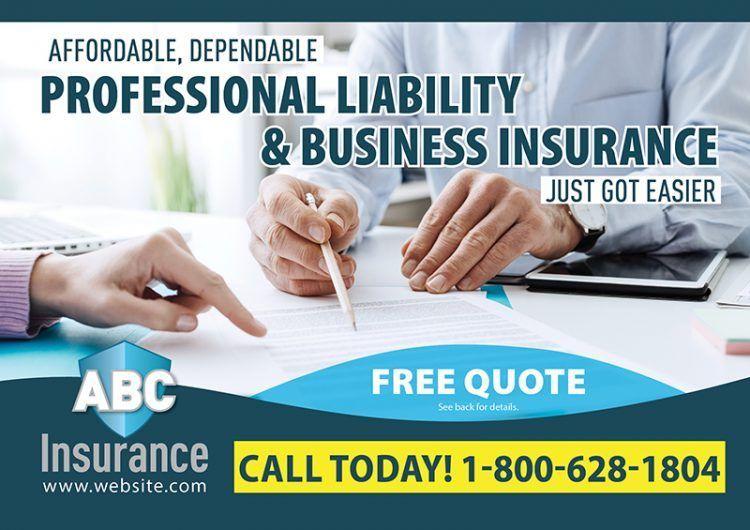 Insurance Postcards Insurance Direct Mail For Insurance Broker Advertising In 2021