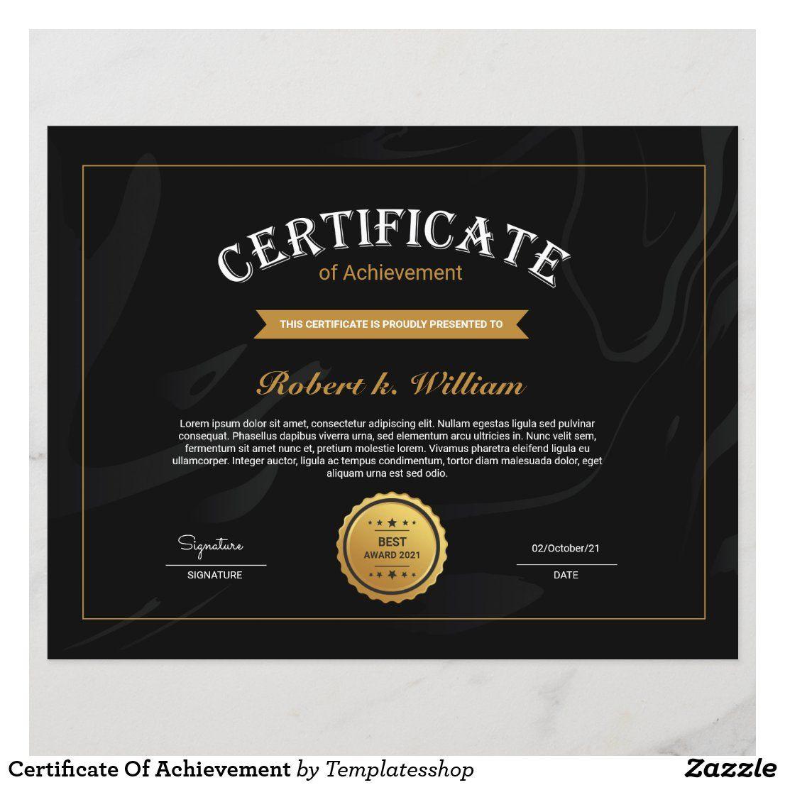 Award Certificate Sample Certificate Award Sample Ecza Soli Certificate Of Achievement Template Graduation Certificate Template Free Certificate Templates