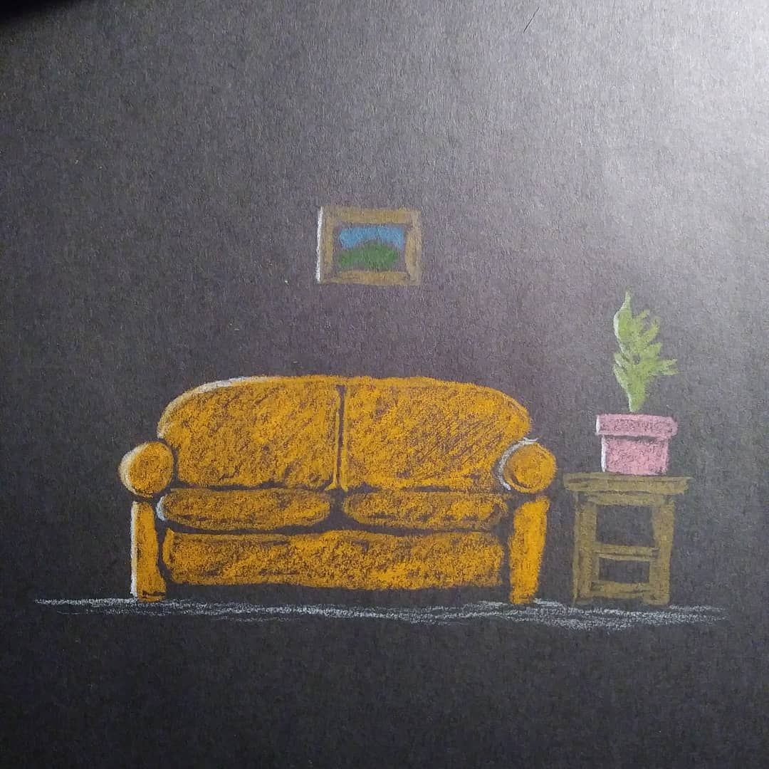 #couch #art #couchart #livingroom #coloredpencil #drawing #draw #quick...