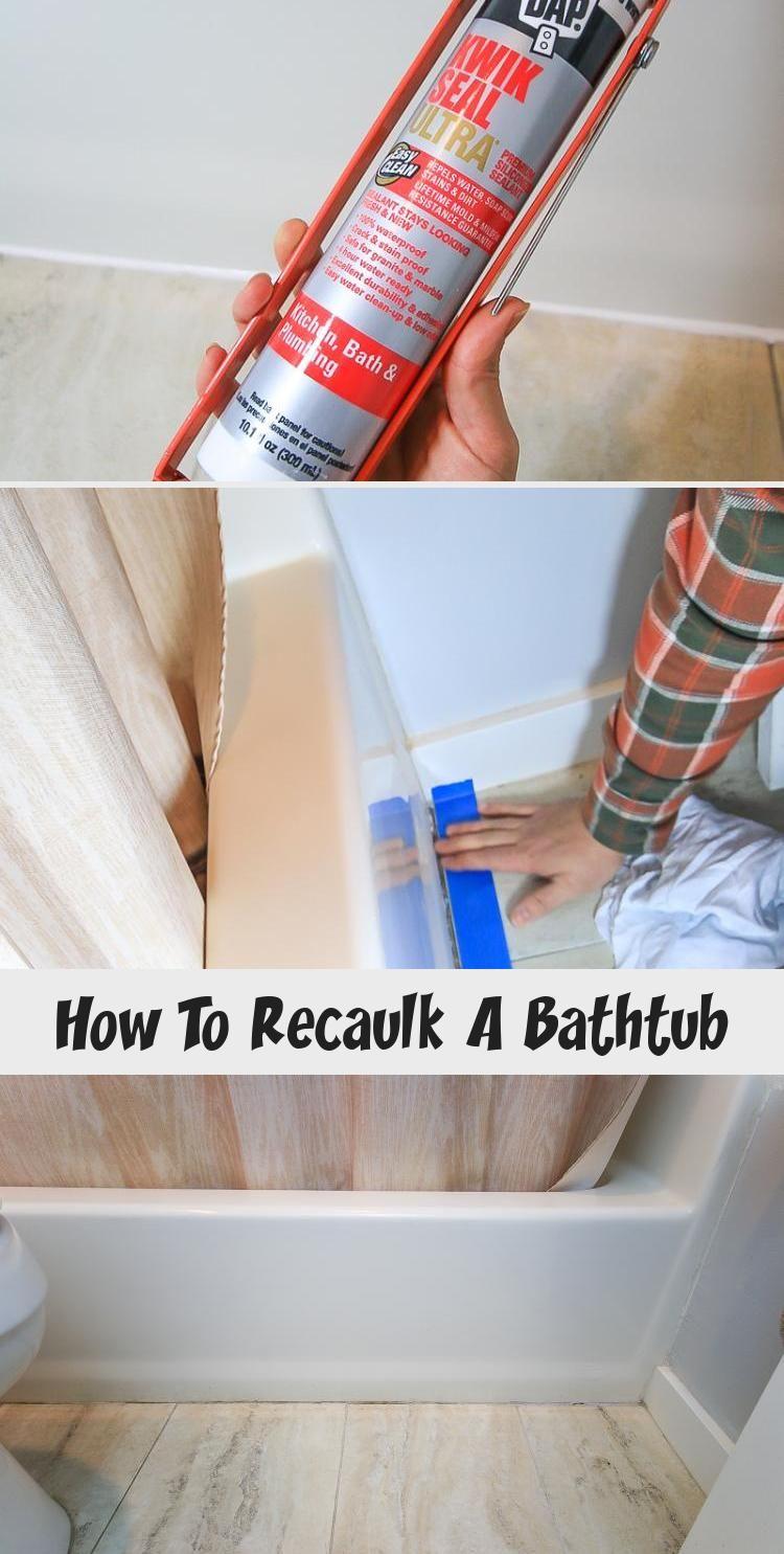 How To Recaulk A Bathtub Diy Bathtub Diy Bathtub