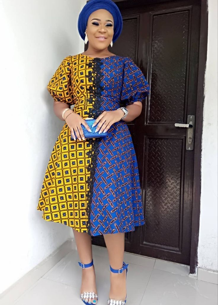 Trendy Ankara Styles 2018 Unique A Shape Gown African Fashion