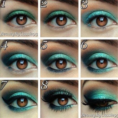 Sombra de ojos plateado en pinterest maquillaje plateado maquillaje de ojos de plata y adicto - Colores verdes azulados ...