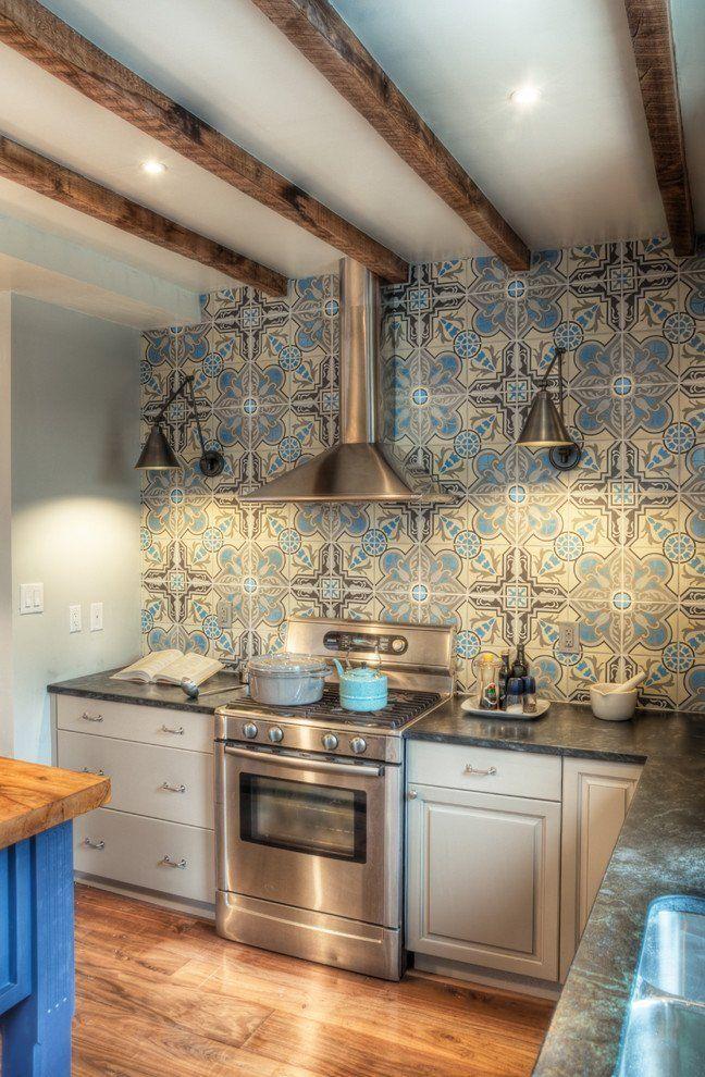 10 Beautiful Encaustic Tile Backsplashes Eclectic Kitchen