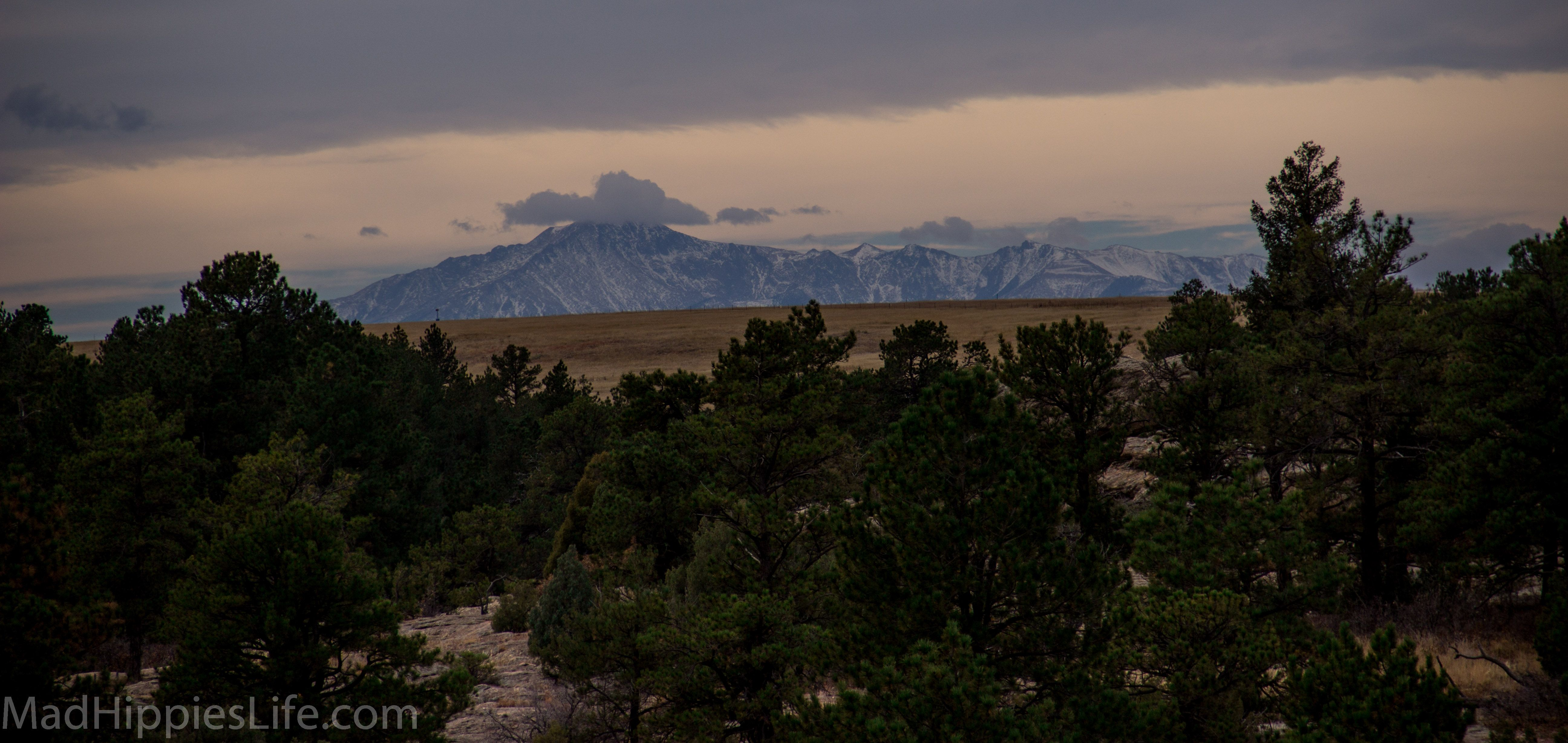 Views of Pikes Peak along the East Canyon trail