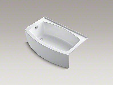 Kids Bath Kohler Expanse 5 Ft Bathtub 60 X 30 36 Curved Alcove