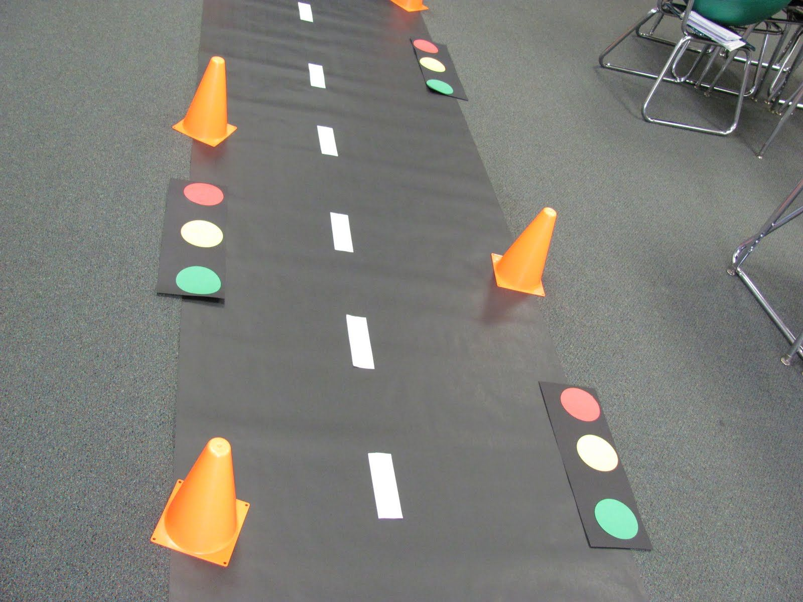 road sign classroom ideas | ... classroom and find themselves among traffic cones, traffic signs and