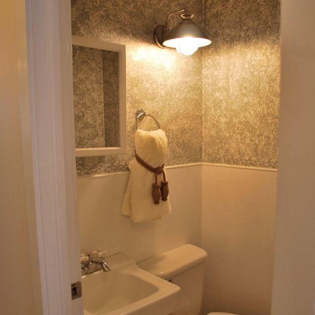 Sponged Wall Paint Sliver Rental Bathroom Einrichten Und Wohnen Wohnen