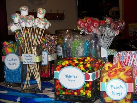 cute sweet 16 candy table ideas tim bits mini donuts cotton candy