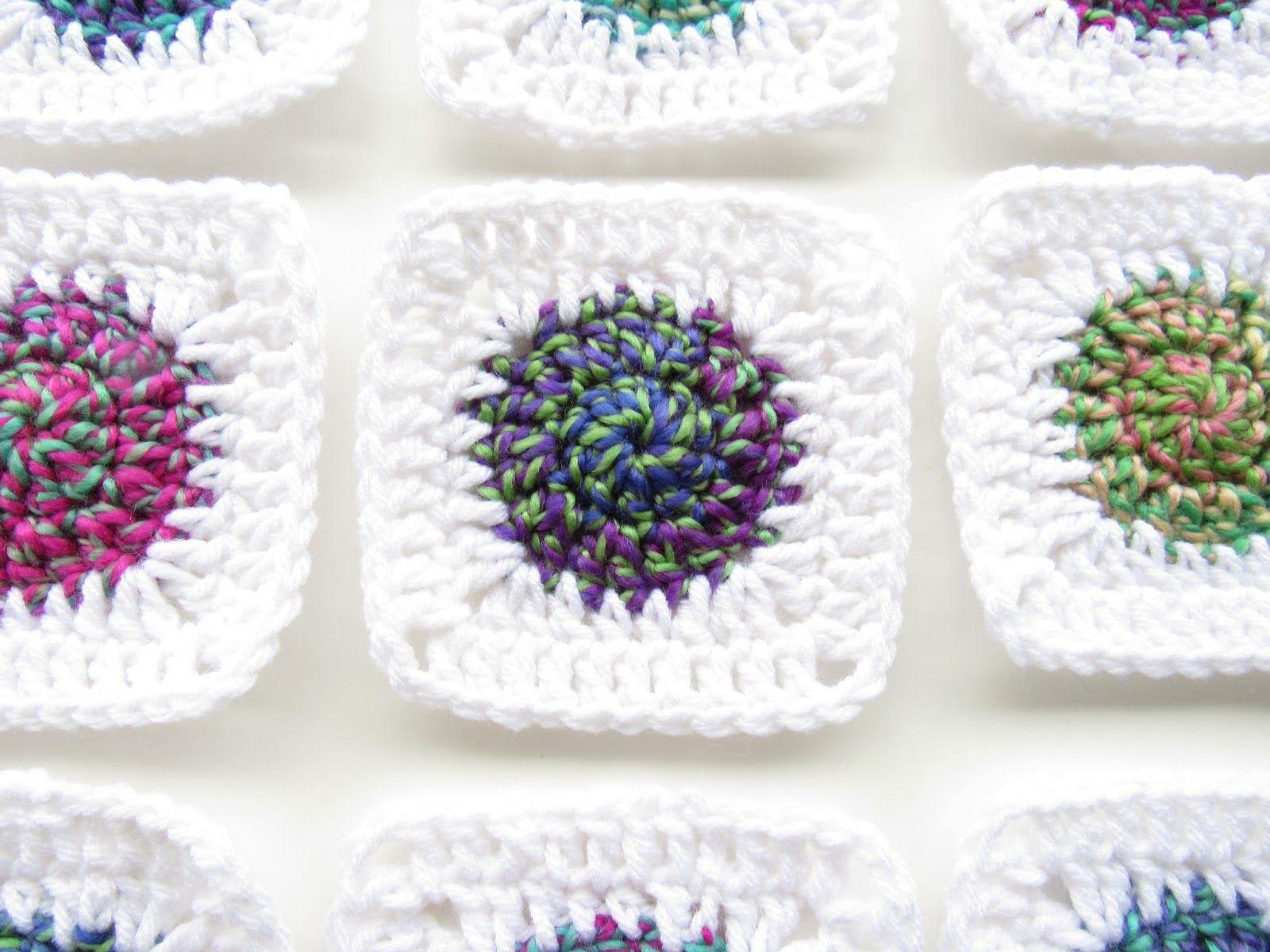 Sunburst Granny Square Crochet Pattern | Pinterest | Cuadrados ...