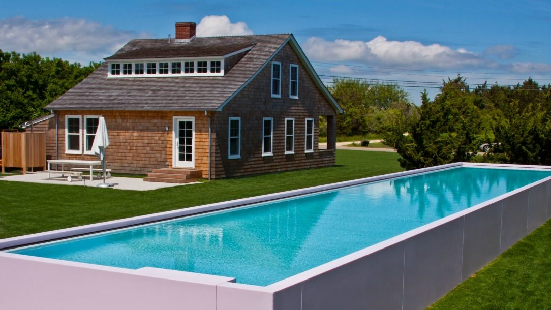 Above Ground Lap Pools the corian pool material- corian strawberry ice this semi- in