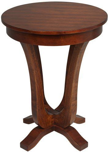 Abbott Antique Walnut High Round End Table By Universal Lighting - 26 high end table