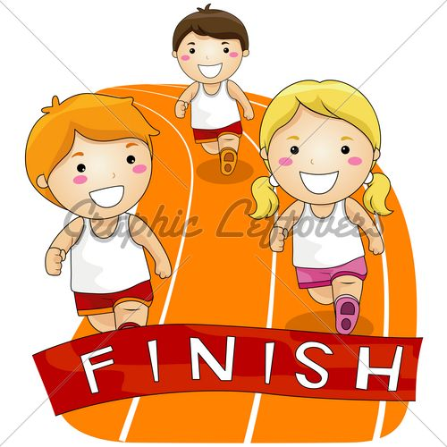 Running Race Gl Stock Images Drawing For Kids Kids Clipart Running Race