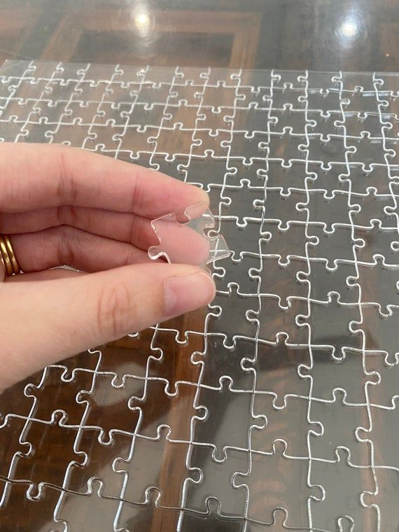 Clear Acrylic 300 piece puzzle