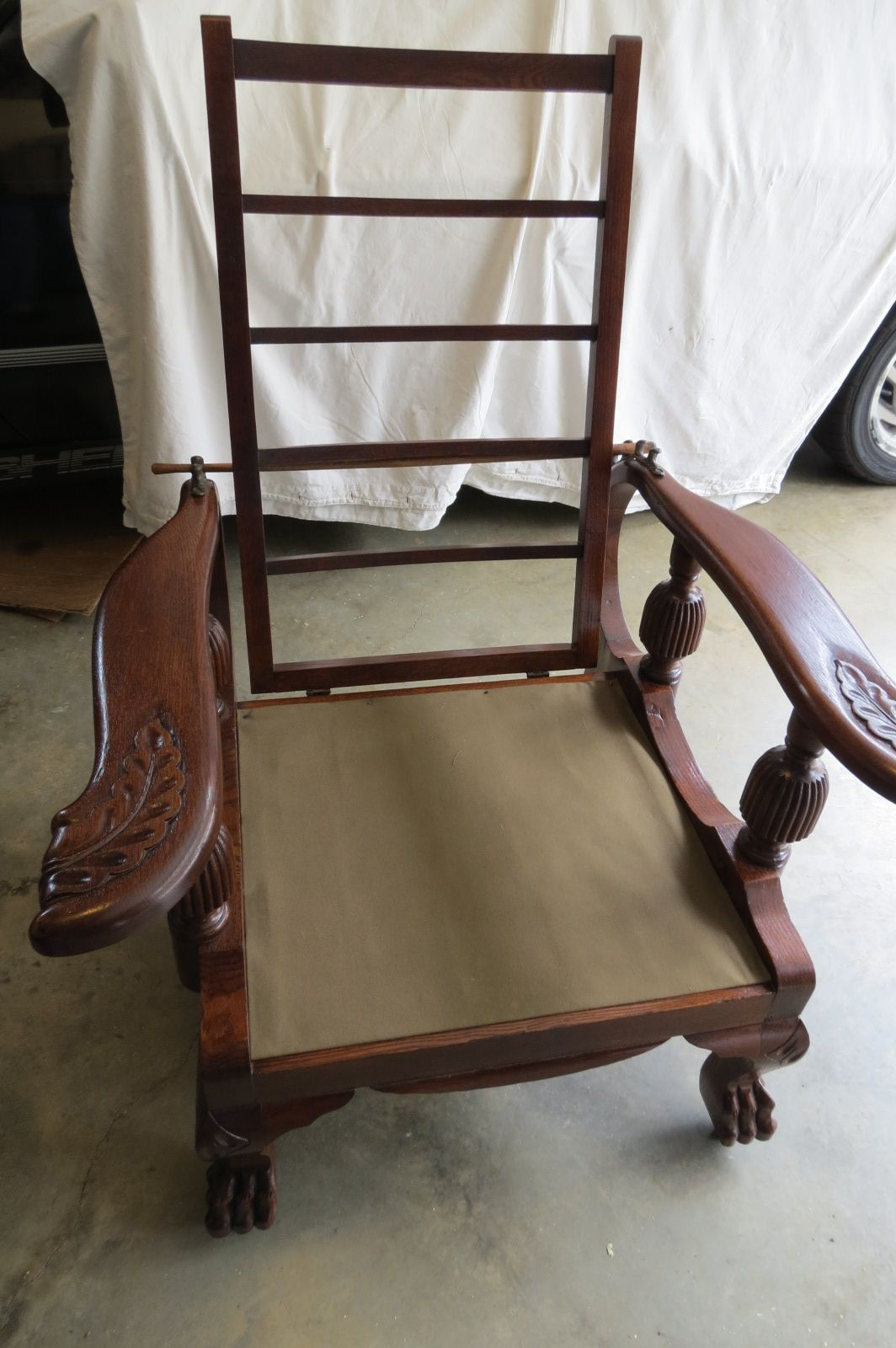 Perfect Webbing Project On A Morris Style Chair For A Local Man. Wish Iu0027d