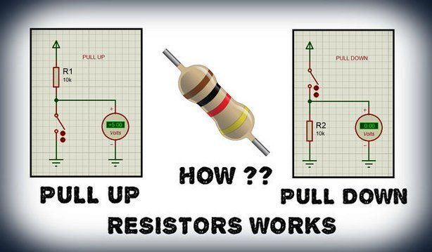 how a pull up and pull down resistor works electronics microcontrollers hobby electronics. Black Bedroom Furniture Sets. Home Design Ideas