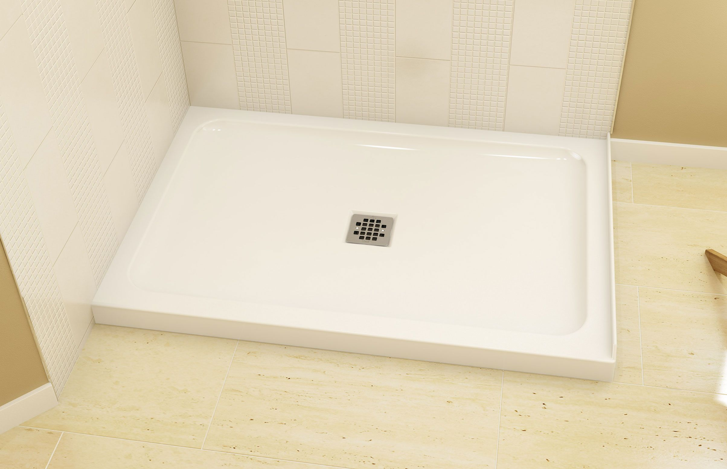 B3Square 4836 | Corner shower base, Shower base and Alcove