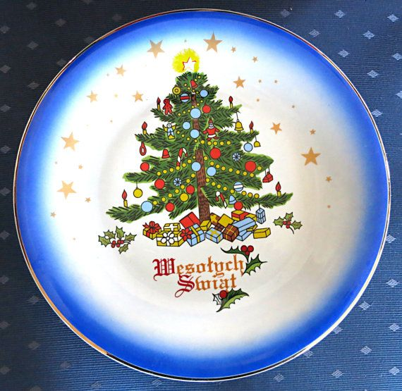 Christmas Plate Polish Christmas Plate Lubiana by mybonvivant My - polish christmas decorations