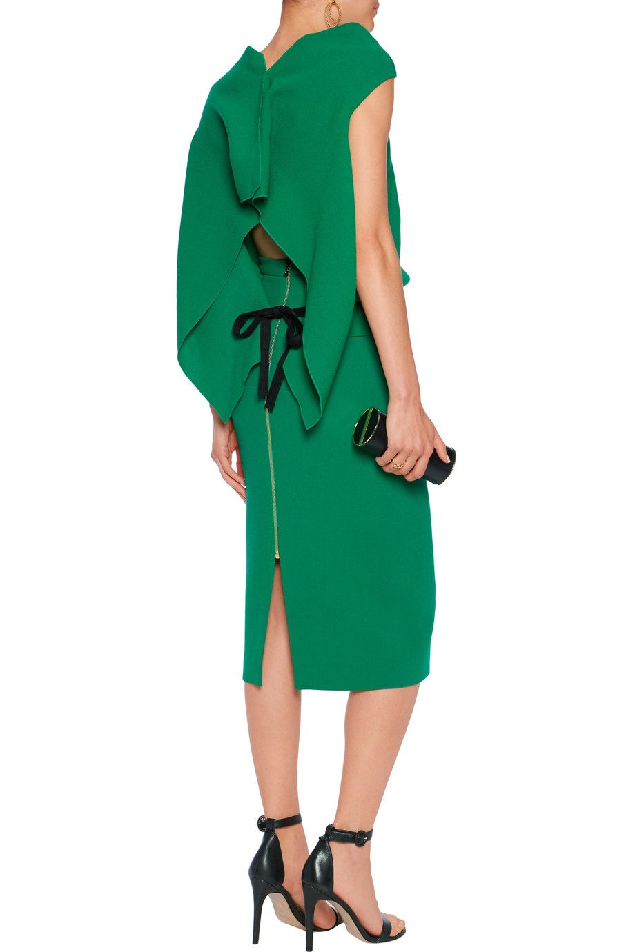 0779c4b0c870 Shop on-sale Roland Mouret Eugene open-back draped wool-crepe top. Browse  other discount designer Tops   more on The Most Fashionable Fashion Outlet