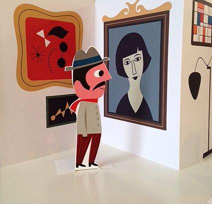 Ingela Peterson, Illustration - work for  Modern art museum in Stockholm. Original idea, great retro style illustrations