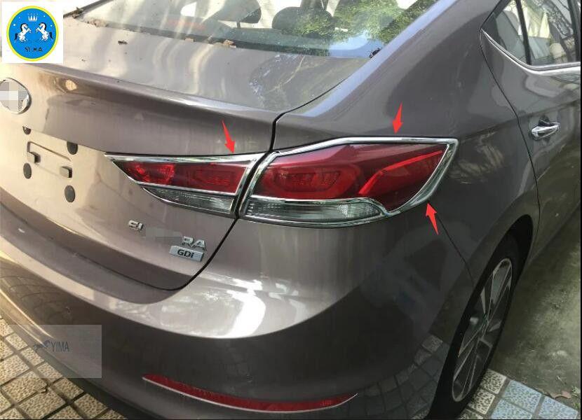 For Hyundai Elantra Sedan 2016 2017 Abs Rear Tail Light Lamp Cover Trim 4 Pcs Set Affiliate Lamp Cover Hyundai Elantra Elantra