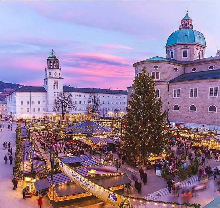 """mynextdestinationis: """"Christmas Market Salzburg Austria  Christmas is such a magical time! Join me and see how people celebrate Christmas all over the world!  Photo by @mikecleggphoto  #mynextdestinationis #mynextxmas"""""""