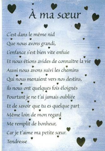 Soeurs Poems Poeme Anniversaire Soeur Citationssss