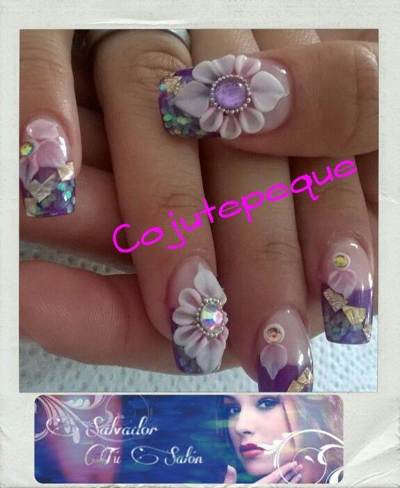Uñas alto relieve | Cocina infantil | Pinterest | 3d acrylic nails ...