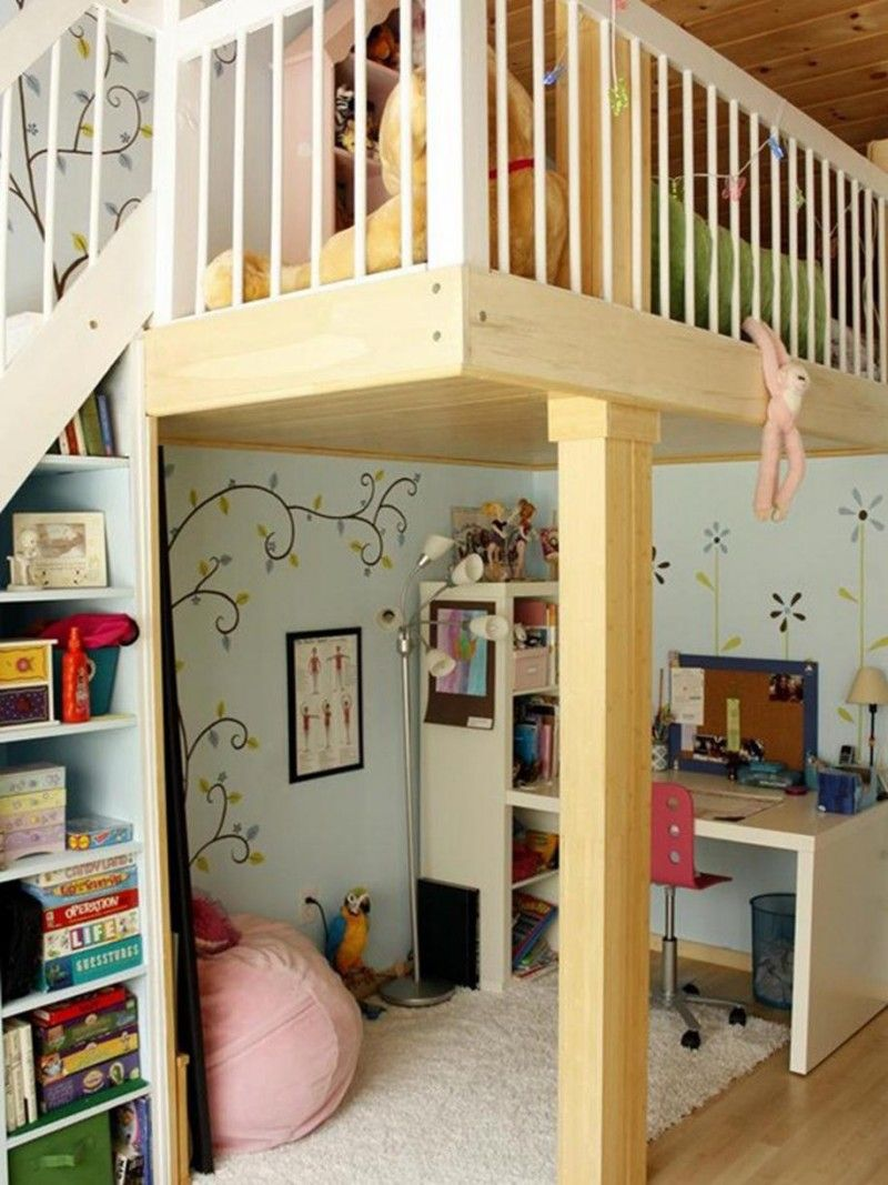 Loft bed ideas for small rooms  cute rooms  Google Search  room ideas  Pinterest  Room Bedroom