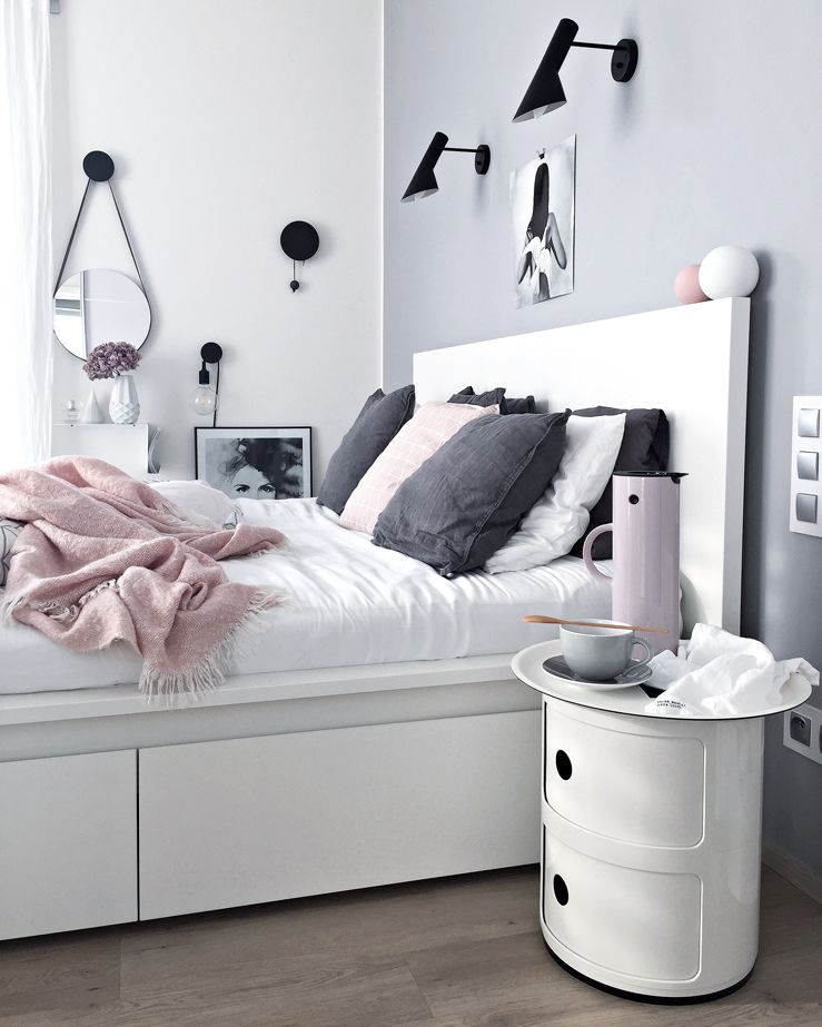 Ikea malm bed het bed waar we voor sparen slaapkamer for Ikea grey bedroom furniture