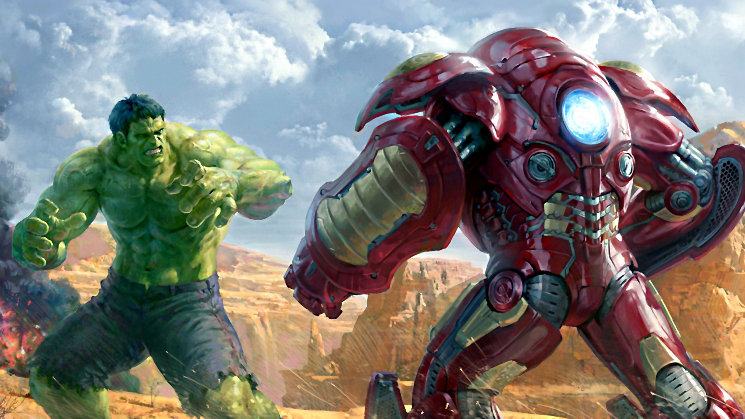 Hulk Vs Iron Man Wallpaper