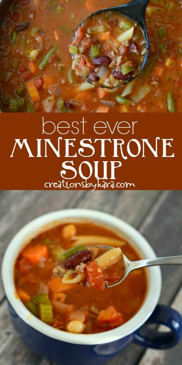 Best-Ever Minestrone Soup Recipe - Creations by Ka