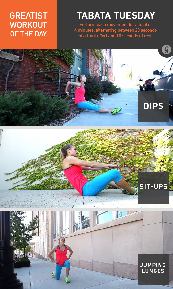 Greatist Workout of the Day: Monday, August 4th Greatist Workout of the Day: Monday, August 4th new picture
