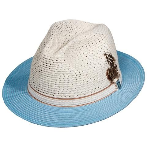 1eaebb099 Stacy Adams Milan Braid Two Tone Fedora | Men's Hats | Hats, Dress ...