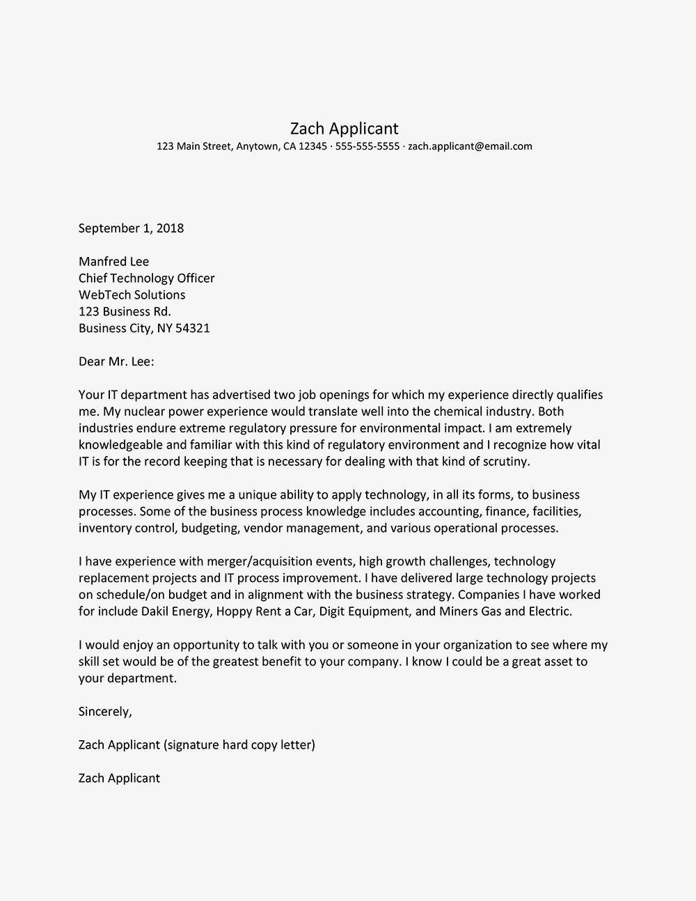 applying for more than one job  use this cover letter example