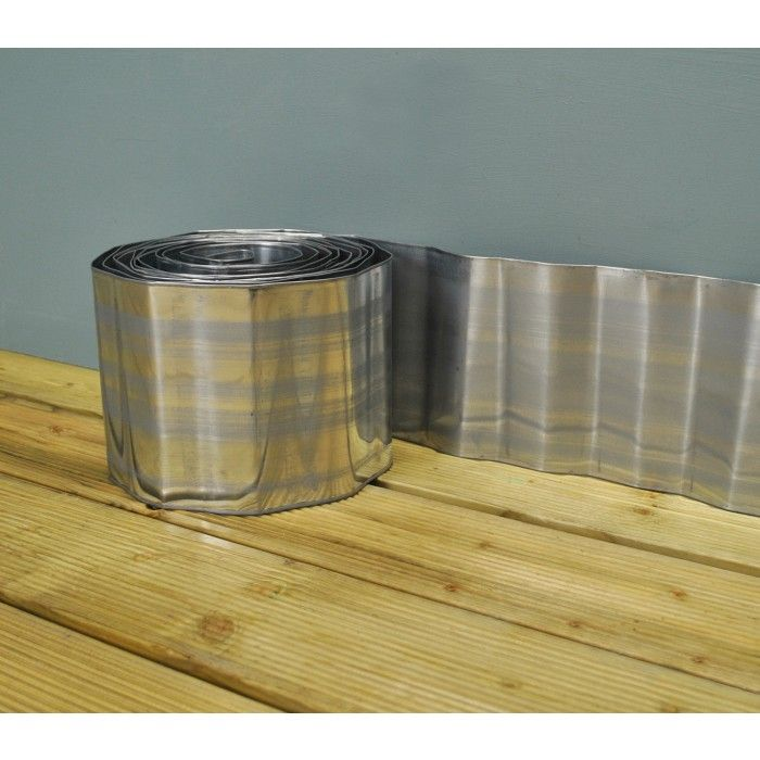Galvanised Corrugated Metal Lawn Edging Roll 5M By 400 x 300