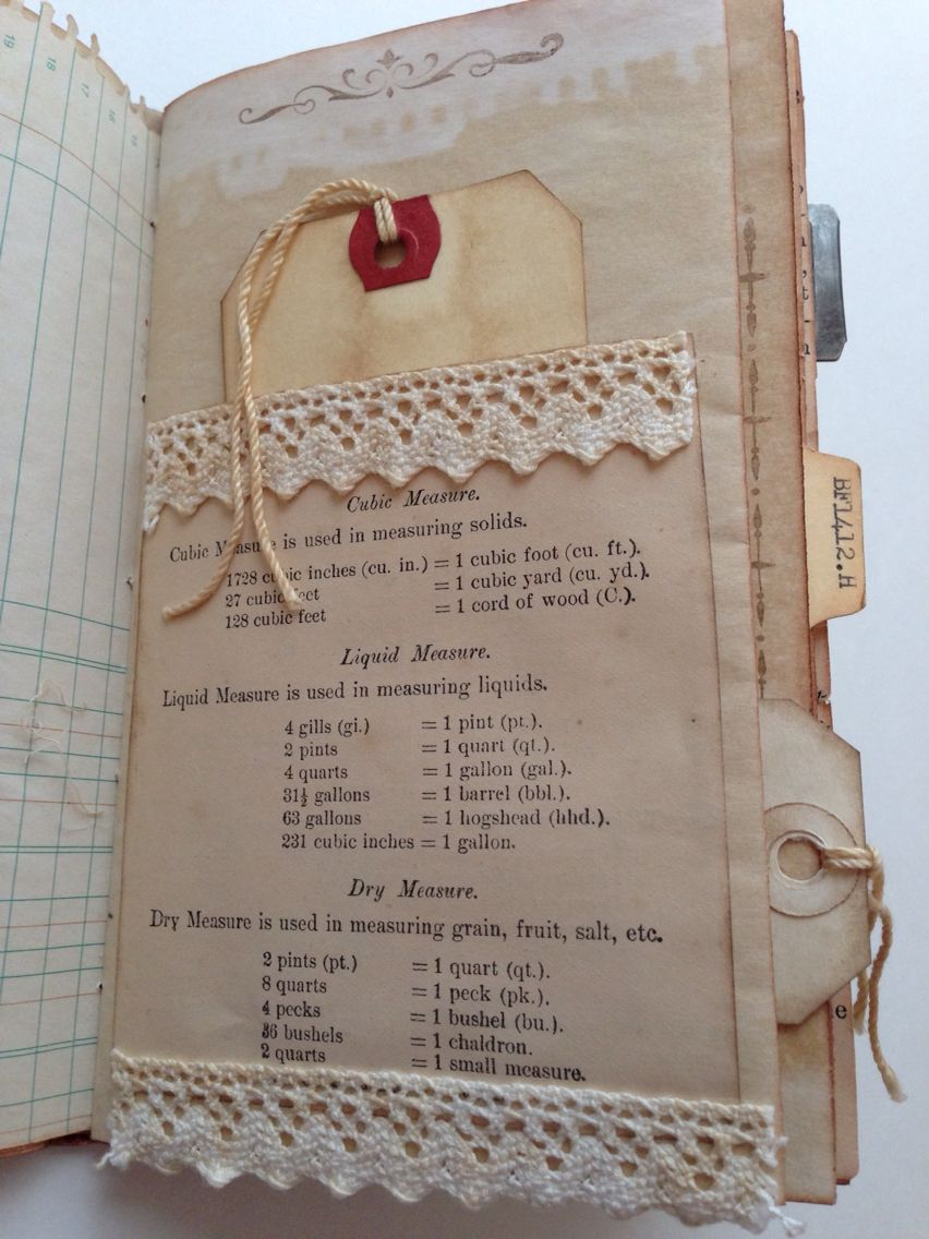 How to scrapbook recipes ideas - Vintage Ephemera Vintage Paper Fabric Journals Recipe Journal Smash Book Journal Inspiration Art Journaling Paper Crafts Vintage Journal Ideas