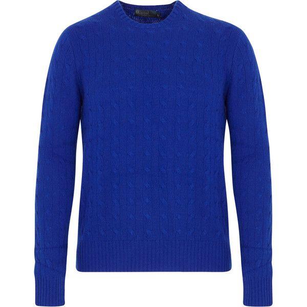 Polo Ralph Lauren Cable Knit Cashmere Jumper ($595) via Polyvore