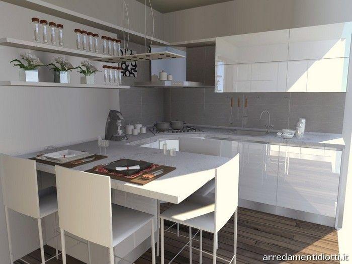 Cucina Ad Angolo Piccola Con Isola