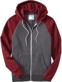 Men's Color Block Zip-Front Hoodies | Old Navy xxl mens zip up hoodie