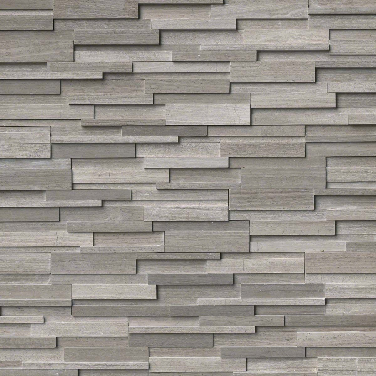 Add Modern Flair And Sophistication To Your Home By Choosing This Ms International Gray Oak Ledger Panel Honed Marble Wall Tile