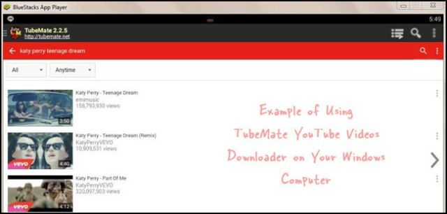 Using TubeMate YouTube Downloader on Windows Computer