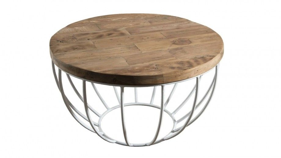 Goran Table Basse Coque Blanche 60 X 60 Cm Table Basse Table Table D Appoint