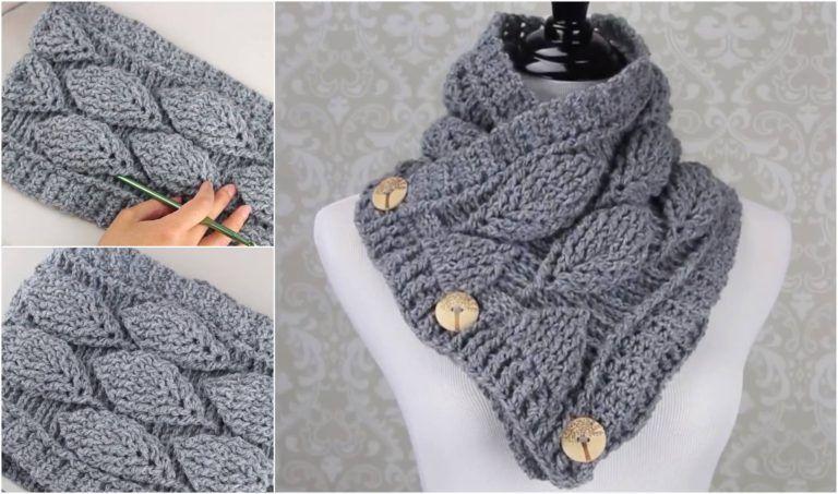 Crochet 3D Peacock Feather Stitch Scarf | Las manos, Caballeros y ...