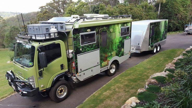 matching truck and trailer overlander trucks expedition vehicle et camper. Black Bedroom Furniture Sets. Home Design Ideas