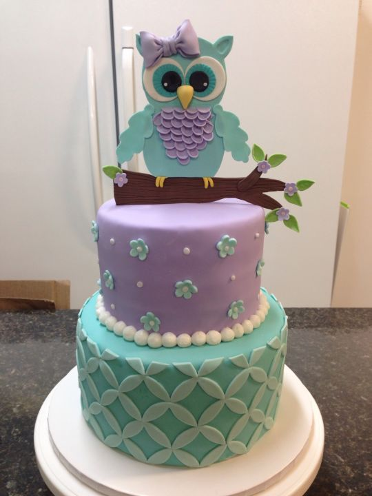 Owl Baby Shower Cake With Images Baby Shower Owl Cake Owl