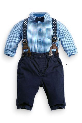 Buy Four Piece Braces And Bow Tie Set 0 18mths Online Today At