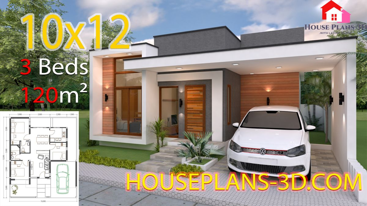 Best House Design 10X12 With 3 Bedrooms Terrace Roof Nhà Cửa 400 x 300