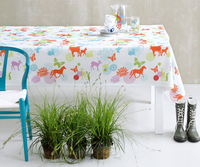Oilcloth for outdoor spaces