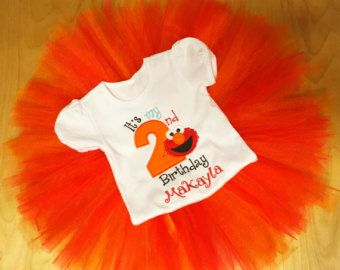 Red Elmo Birthday Outfit 1st 2nd By WildRoseBoutique2